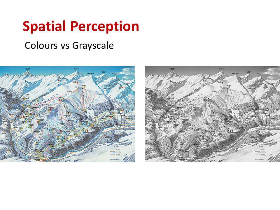 Colours vs Grayscale Spatial Perception