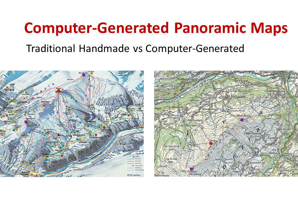 Traditional Handmade vs Computer-Generated Computer-Generated Panoramic Maps