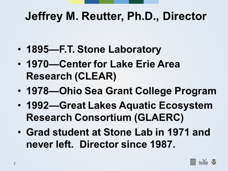 2 Jeffrey M. Reutter, Ph.D., Director