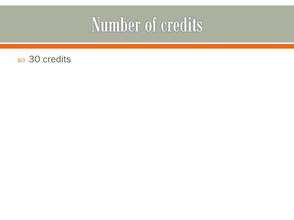 30 credits