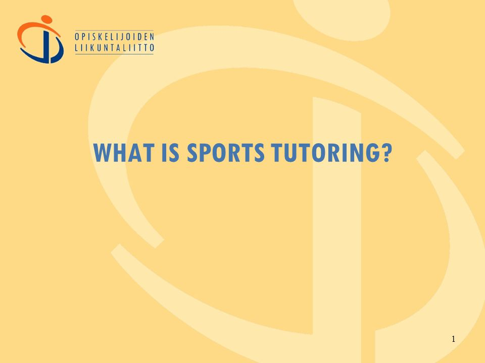 WHAT IS SPORTS TUTORING 1