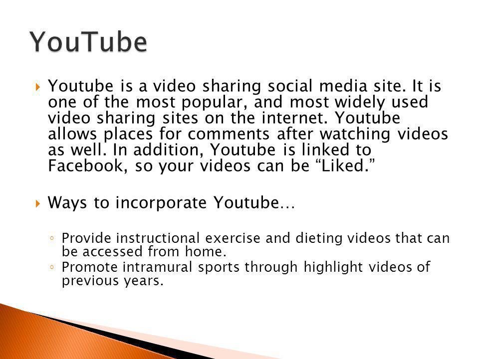 Youtube is a video sharing social media site.