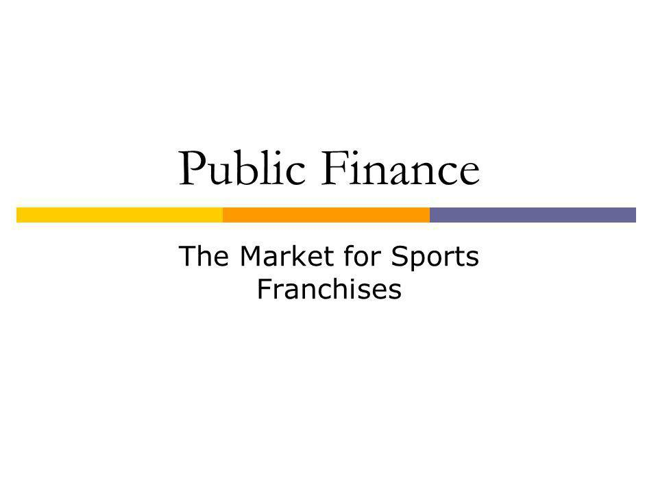 Public Finance The Market for Sports Franchises