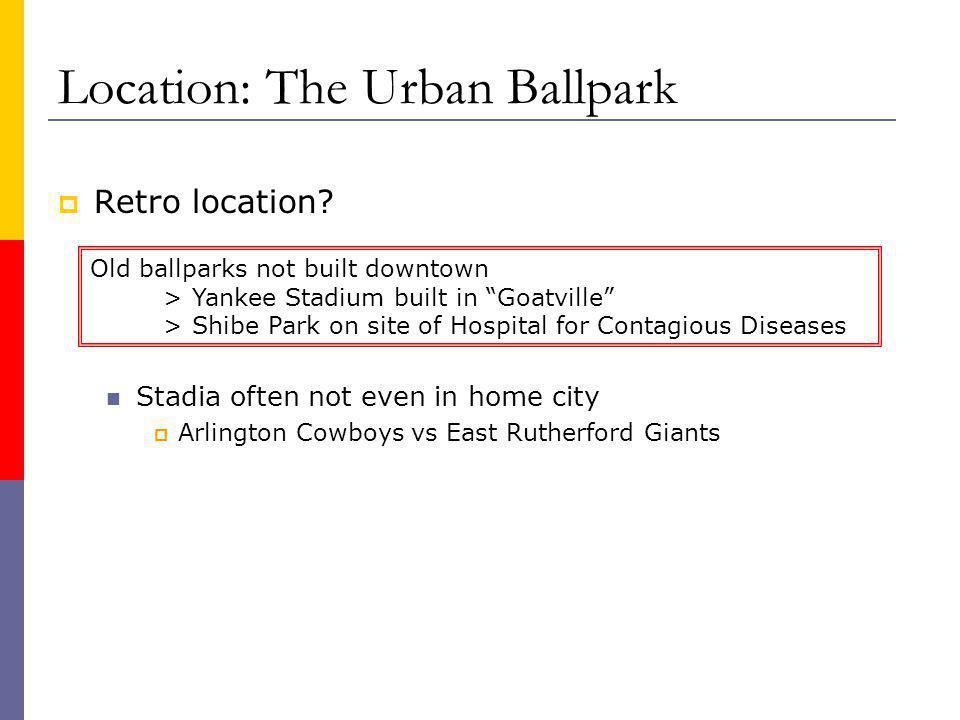 Location: The Urban Ballpark Retro location.