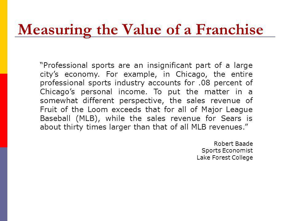 Professional sports are an insignificant part of a large citys economy.