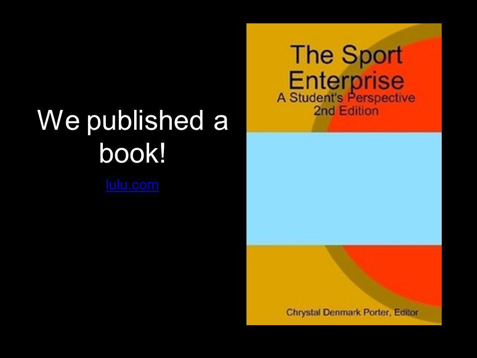 We published a book! lulu.com
