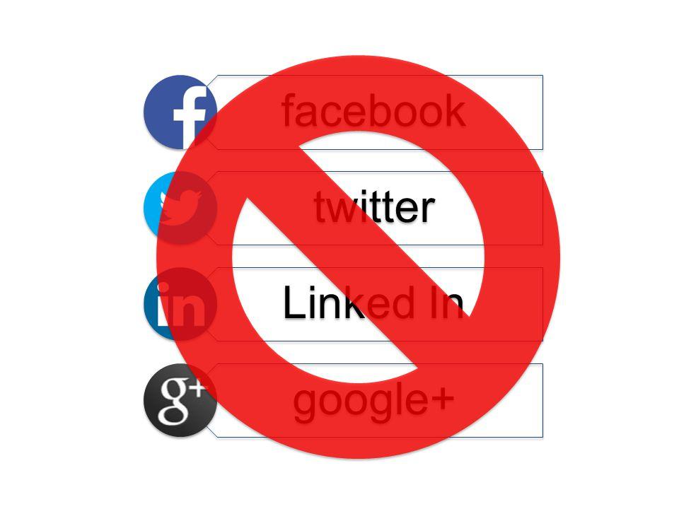 facebook twitter Linked In google+