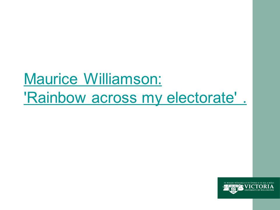 Maurice Williamson: Rainbow across my electorate .