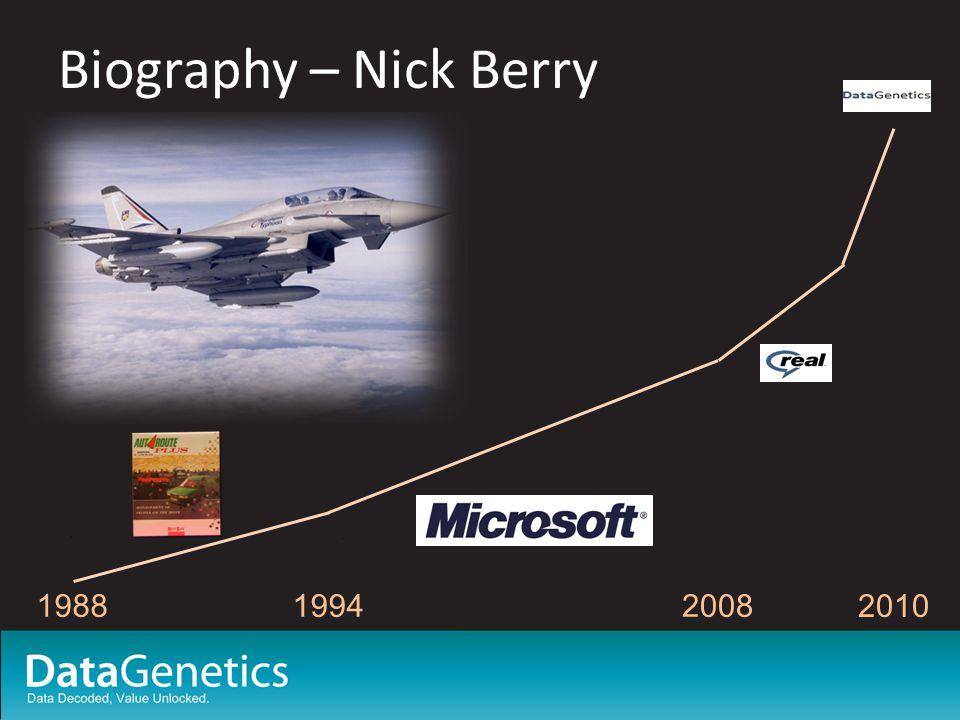 Biography – Nick Berry 198819942008 2010