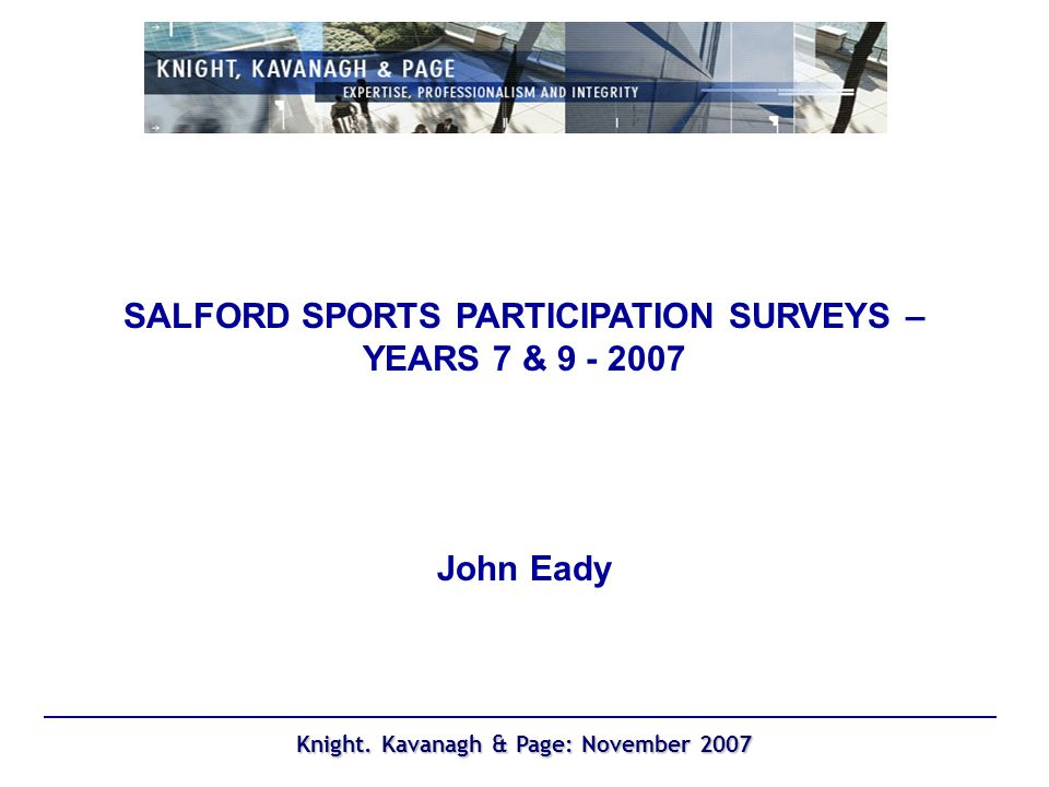 Knight. Kavanagh & Page: November 2007 Swimming: where learnt; Year 7 2005 Year 7 (2007)