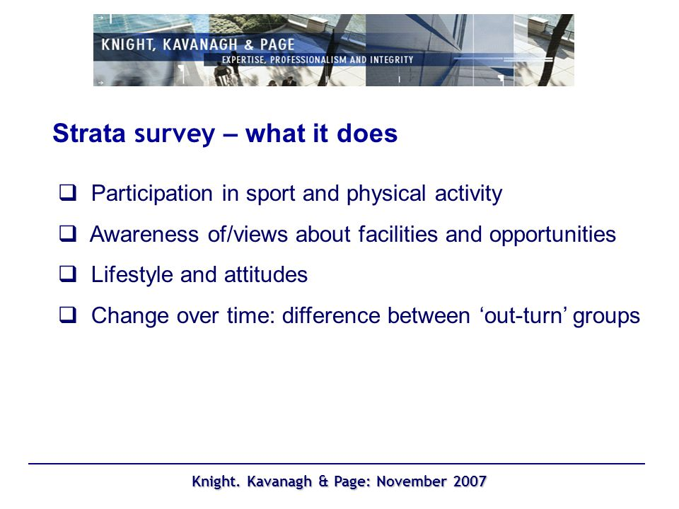 Knight. Kavanagh & Page: November 2007 Participation in extracurricular sport Year 7 Year 9