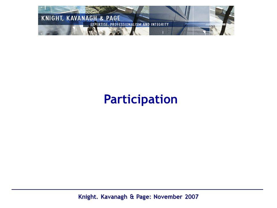 Knight. Kavanagh & Page: November 2007 Swimming
