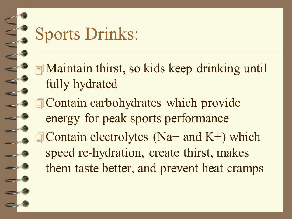 Sports Drinks vs. H 2 O
