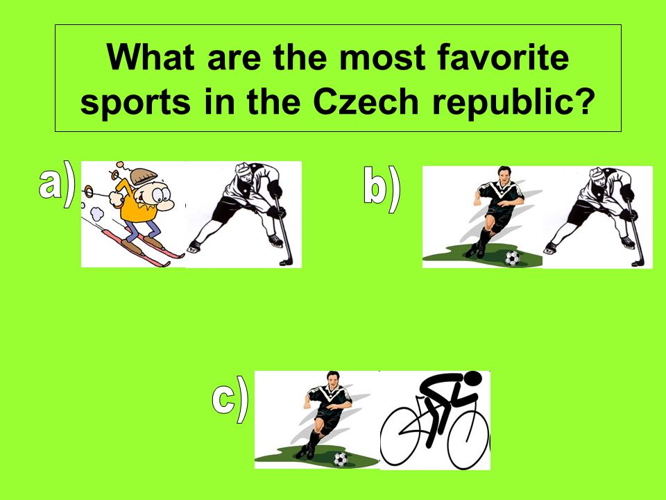 What are the most favorite sports in the Czech republic