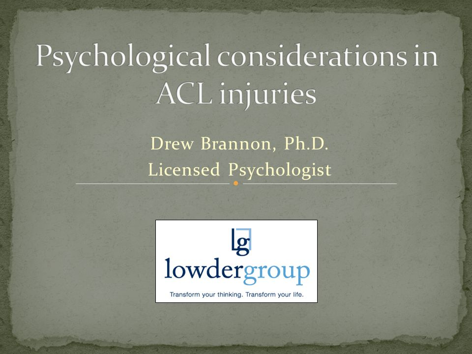 Drew Brannon, Ph.D. Licensed Psychologist