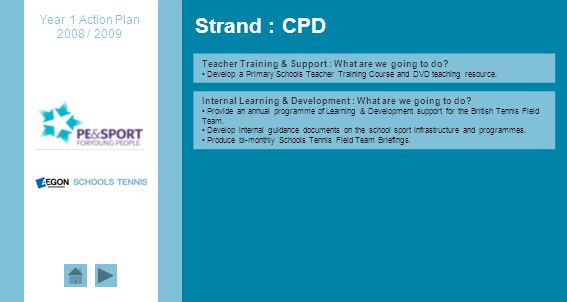 Strand : CPD Teacher Training & Support : What are we going to do.