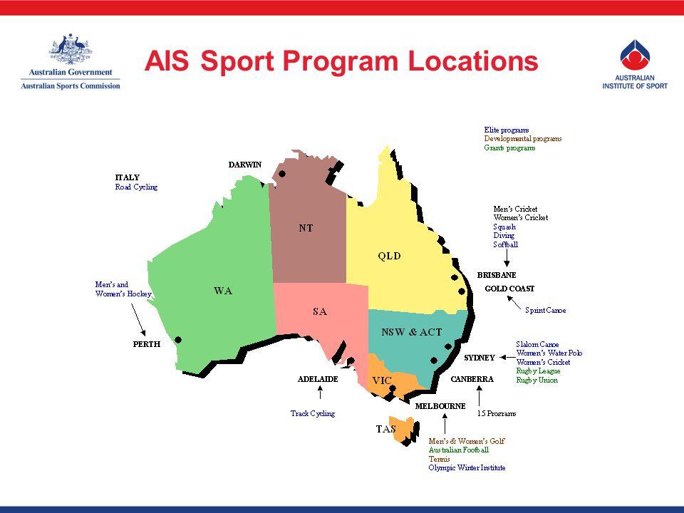 AIS Sport Program Locations