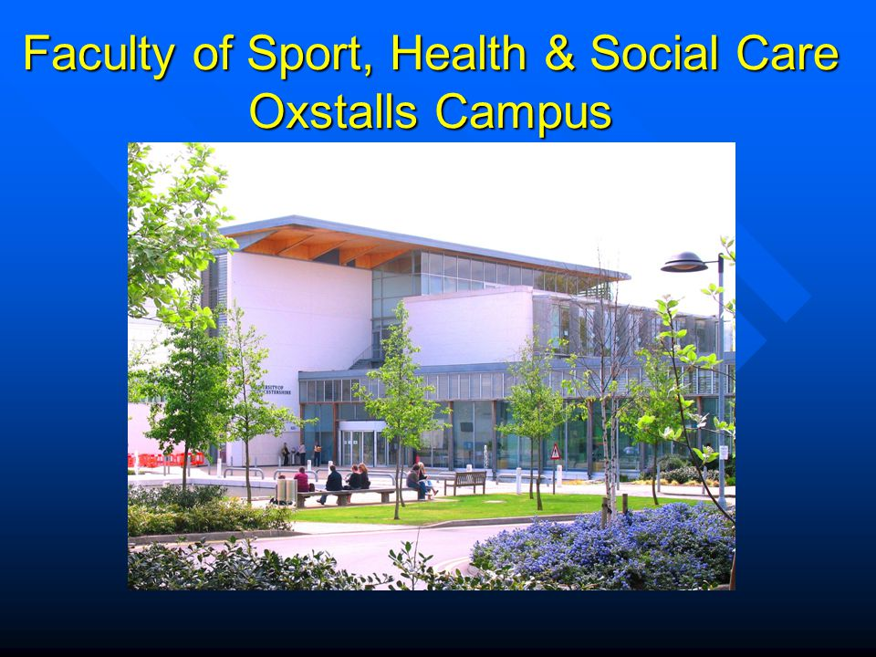 Faculty of Sport, Health & Social Care Oxstalls Campus