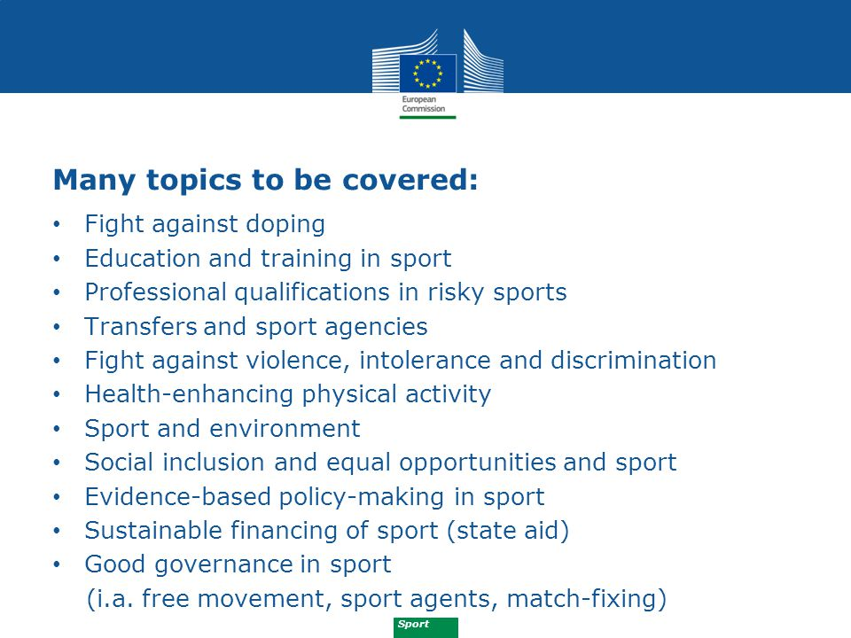 Sport Article 12: Activities 1.