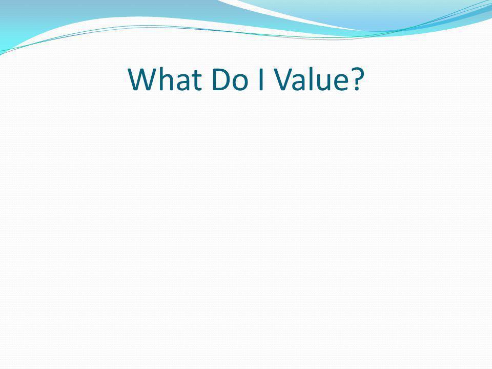 What Do I Value?