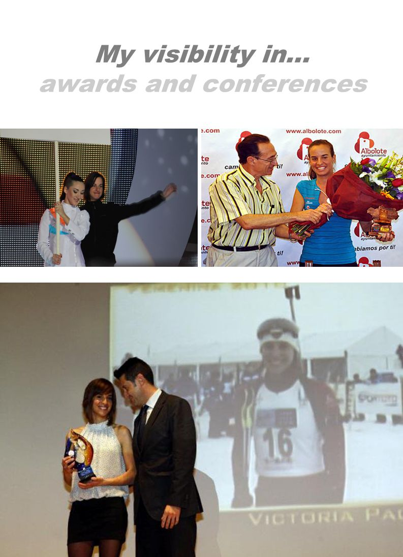 My visibility in… awards and conferences