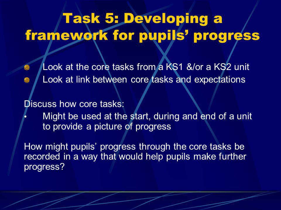 What is a core task? Authentic context for performance Combination of three aspects which are inter-related and have impact on each other Evaluating &