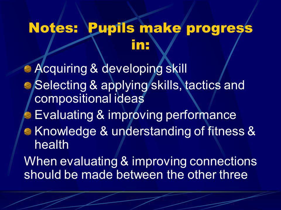 Task 1: Understanding progress Describe what it means when pupils make progress What does it look like? How do we recognise it? In what different ways