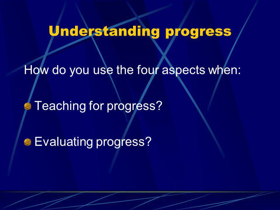 Notes: Pupils make progress in: Acquiring & developing skill Selecting & applying skills, tactics and compositional ideas Evaluating & improving perfo