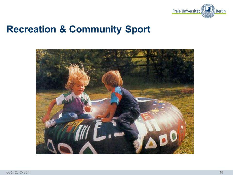 10 Györ, 20.05.2011 Recreation & Community Sport