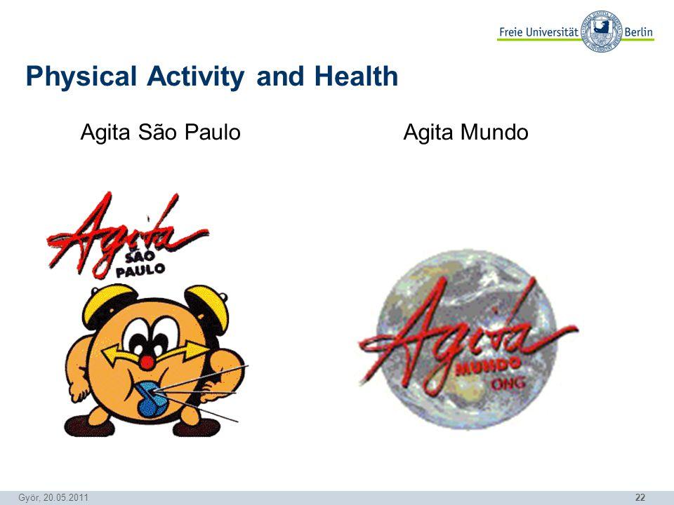22 Györ, 20.05.2011 Physical Activity and Health Agita São Paulo Agita Mundo