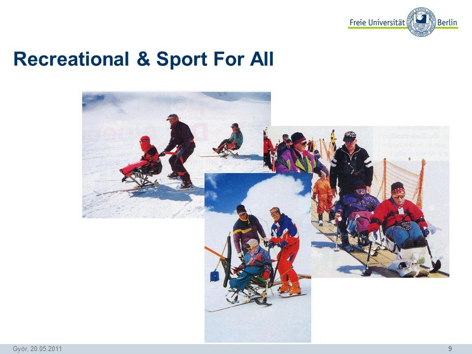 9 Györ, 20.05.2011 Recreational & Sport For All