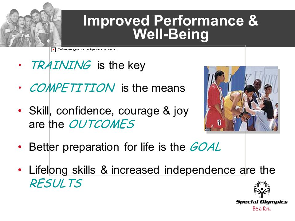 Improved Performance & Well-Being TRAINING is the key COMPETITION is the means Skill, confidence, courage & joy are the OUTCOMES Better preparation fo