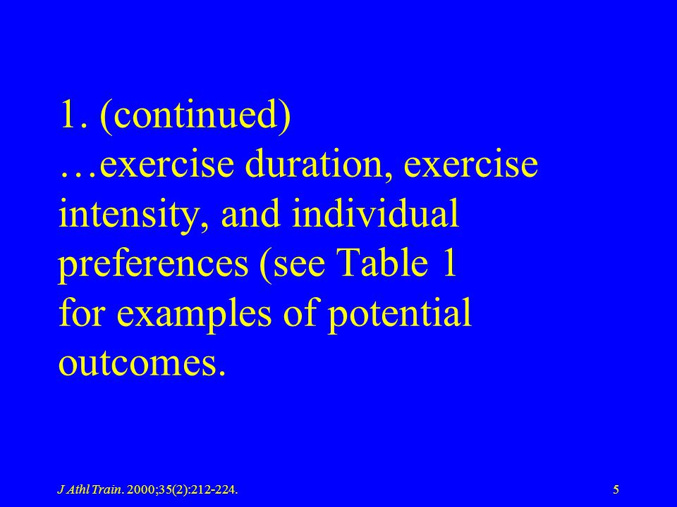 J Athl Train.2000;35(2):212-224.96 Table 2.