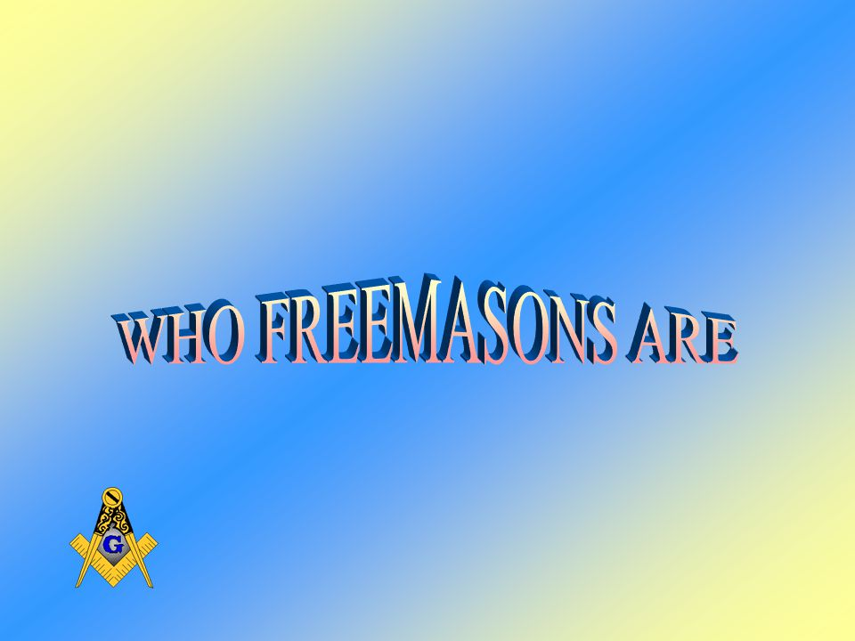 What Freemasonry Is Not IN PENNSYLVANIA ALONE OVER ONE MILLION DOLLARS A DAY GO TO VARIOUS MASONIC CHARITIES –Shriners Hospital for Crippled ChildrenThe Masonic Homes –The Masonic Children s HomeRonald McDonald House –Muscular Dystrophy AssociationScholarships –The Knights Templar Eye FoundationFlood and Hurricane Relief –Higher Education Loans –The Scottish Rite Learning Centers for Dyslexic Children –Sponsors of Holy Land Pilgrimages for Rabbis and Ministers –Sponsorship of Masonic Youth Groups WITH THE EXCEPTION OF HIGHER EDUCATION LOANS, THERE IS NEVER A REPAYMENT REQUIRED FOR ANY MASONIC CHARITY