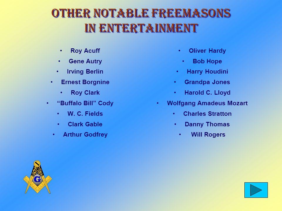 Freemasons in Entertainment John Wayne Will Rogers