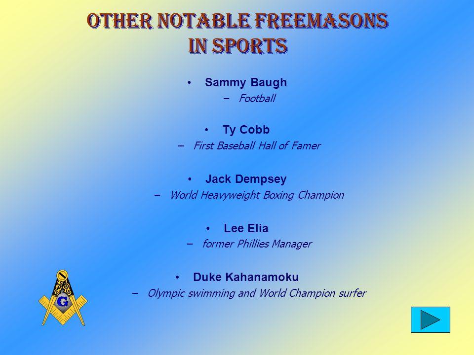 Freemasons in Sports Richie Ashburn Arnold Palmer