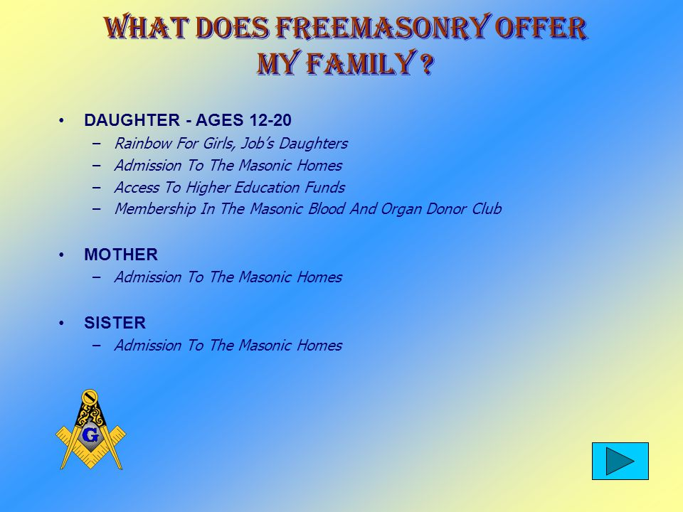 What Does Freemasonry Offer My Family .
