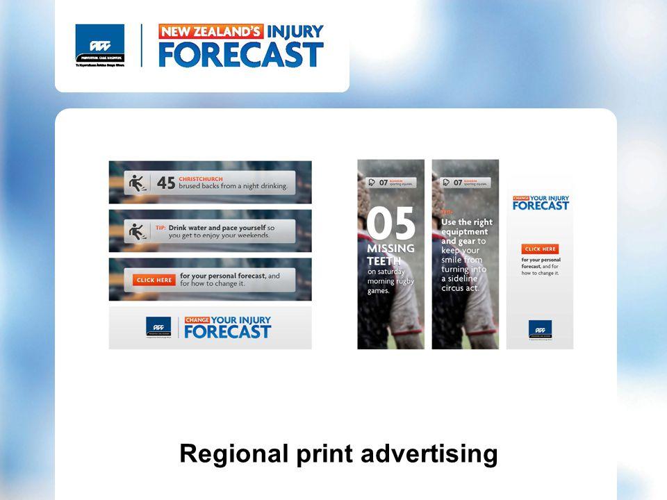 Regional print advertising
