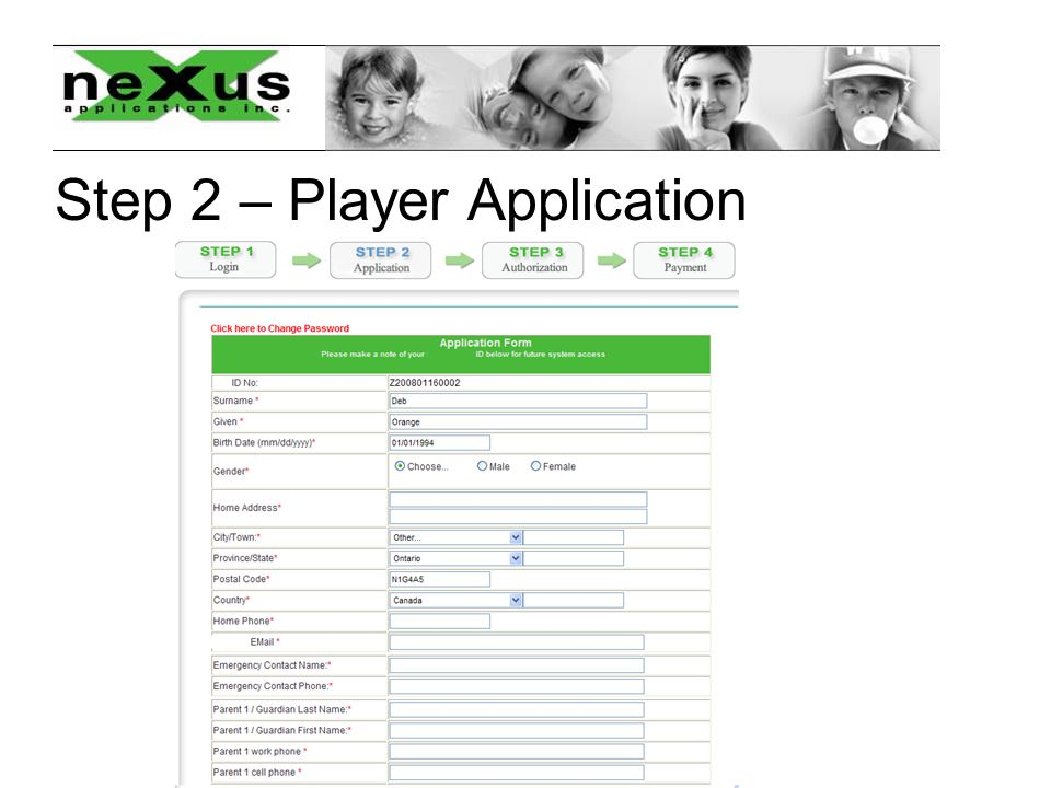 Step 2 – Player Application