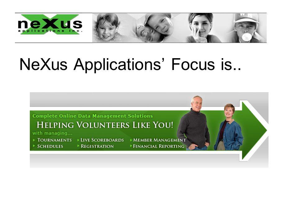 Sample Look of NeXus Registration Process