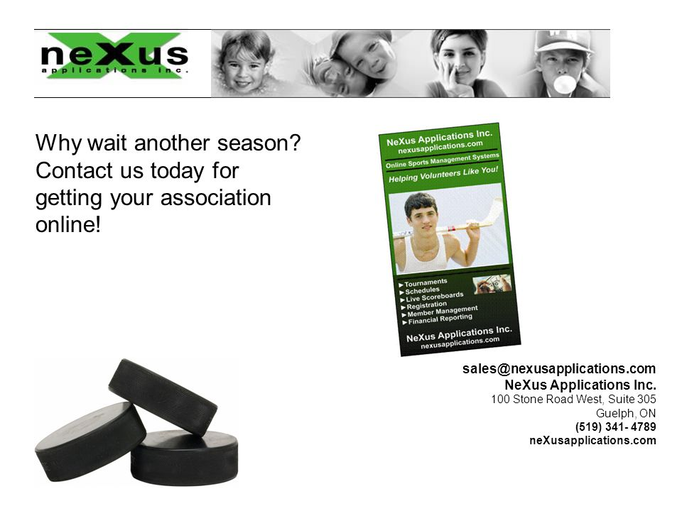 sales@nexusapplications.com NeXus Applications Inc.