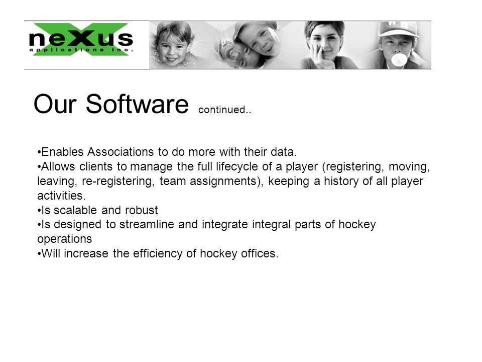 Our Software continued.. Enables Associations to do more with their data.