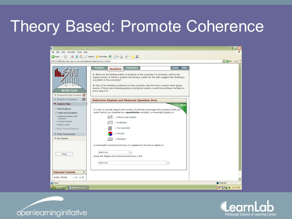 Theory Based: Promote Coherence