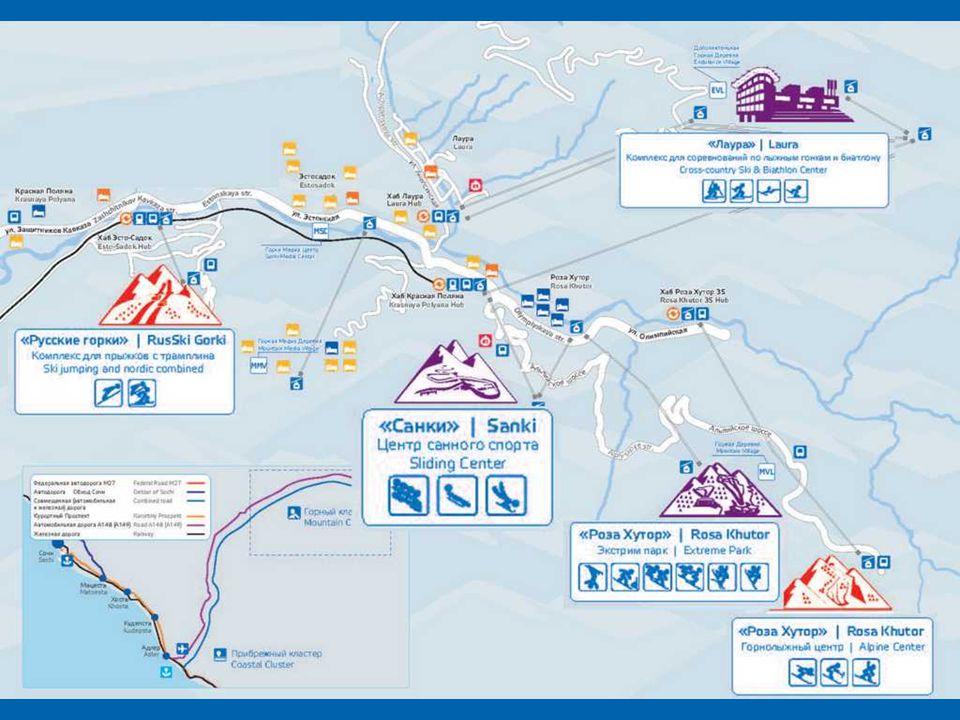 Krasnaya Polyana, Russia is the largest ski resort, called Russian Switzerland .