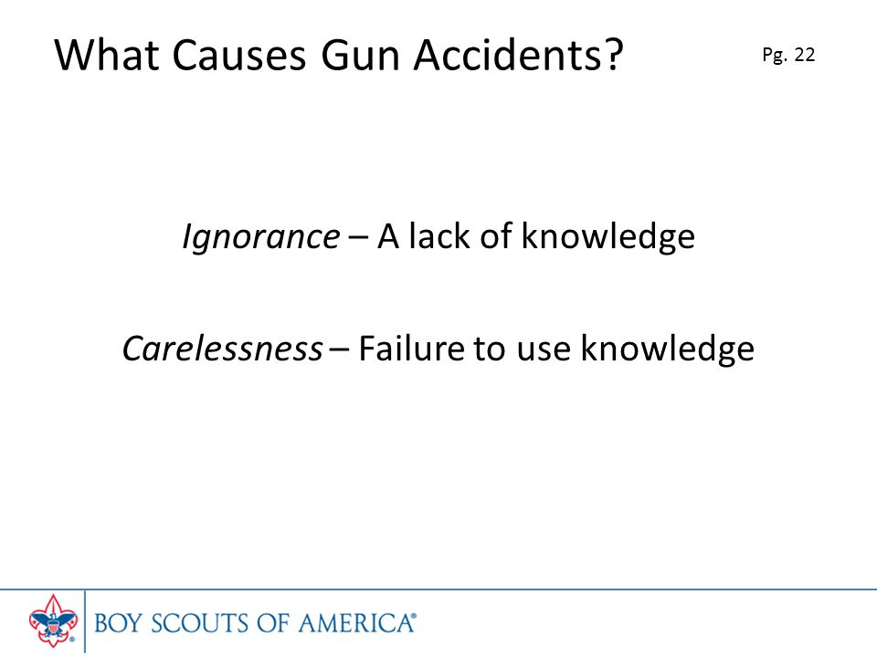What Causes Gun Accidents.