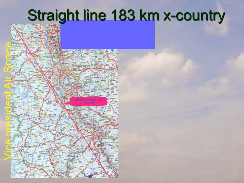 Vice president Air Space Straight line 183 km x-country