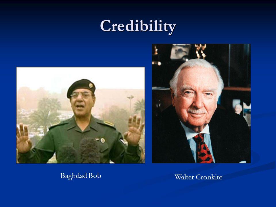 Credibility Baghdad Bob Walter Cronkite