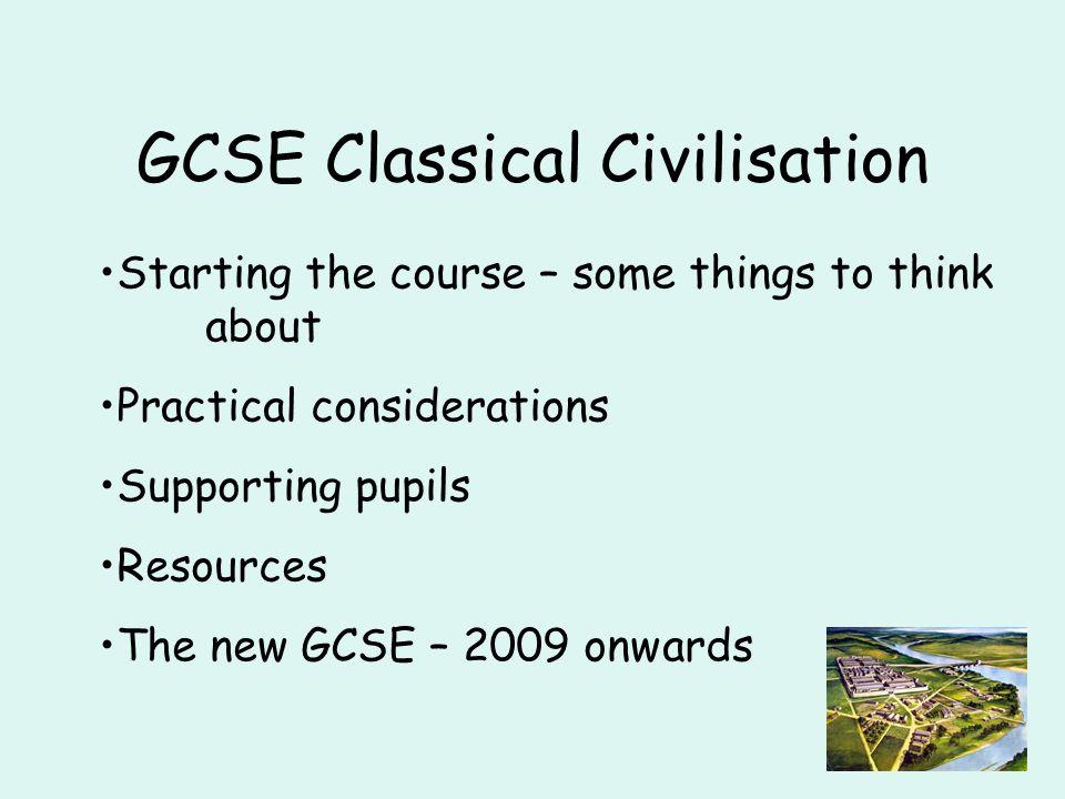 Choosing the topics for GCSE
