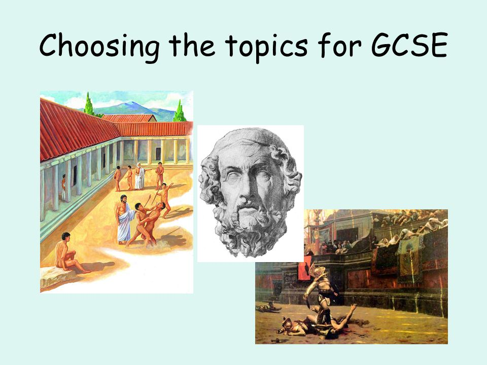 Choosing the topics for GCSE