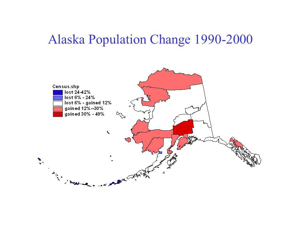 Alaska Population Change 1990-2000